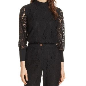 NWT Ted Baker Dilly Lace High Neck Blouse